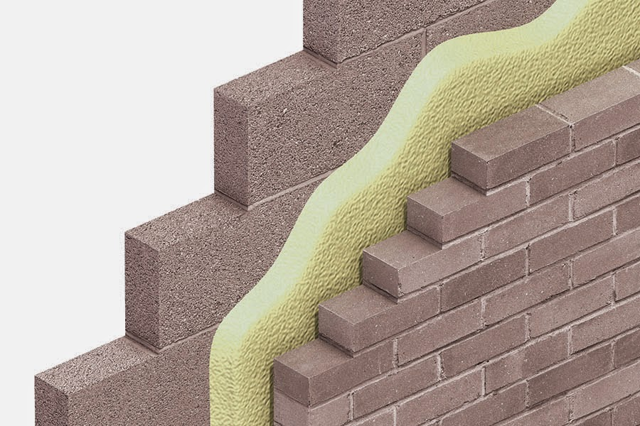 Pu spray insulation cavity wall greenland management for Rock wall insulation